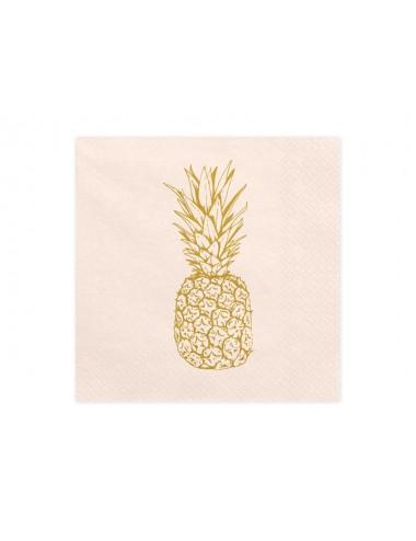 Perzik servetten Ananas (20st)