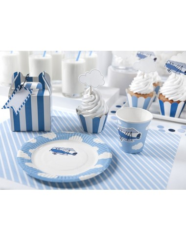 Cupcake Wrappers blauw...