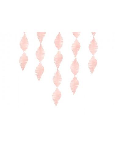 Crêpe slinger fringe lichtroze