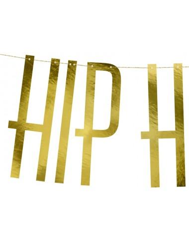 "Slinger ""HIP HIP HOORAY"" goud"
