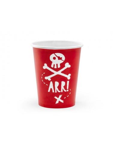 Papieren bekertjes Piraat (6st)