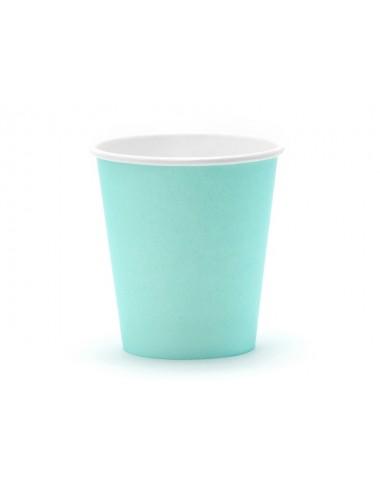 Papieren bekertjes turquoise (6st)
