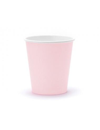 Papieren bekertjes roze (6st)