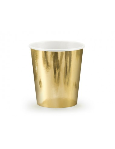Papieren bekertjes goud (6st)