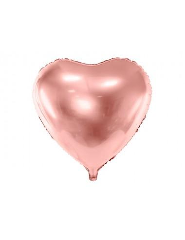 Folieballon hart roségoud