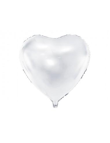 Folieballon hart wit