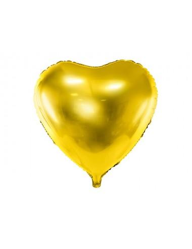 Folieballon hart goud