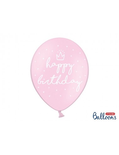 "Ballonnen ""Happy Birthday"" roze (6st)"