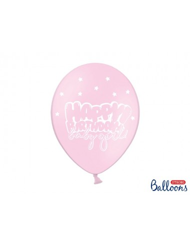 "Ballonnen ""Happy Birthday baby girl""  (6st)"