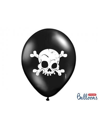 """Ballonnen zwart """"Pirate"""" (6st)"""