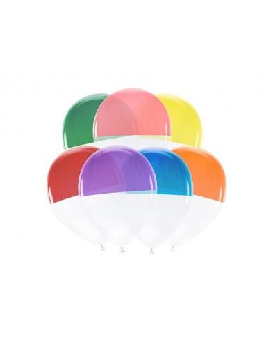 Transparante mix Ballonnen kleur (7st)