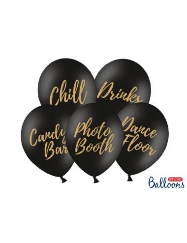 Ballonnen bruiloft zwart (5st)