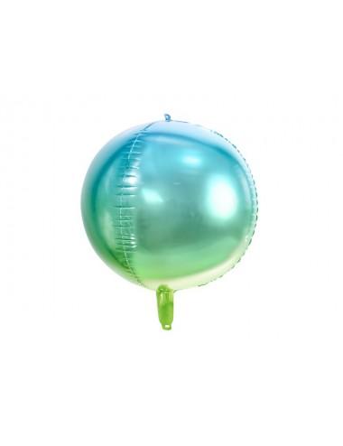 Folieballon ombre blauw/groen