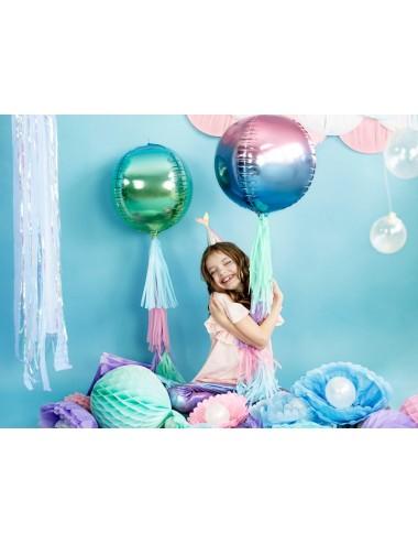 Folieballon ombre paars/blauw