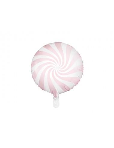 Folieballon snoep roze