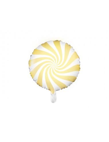 Folieballon snoep geel