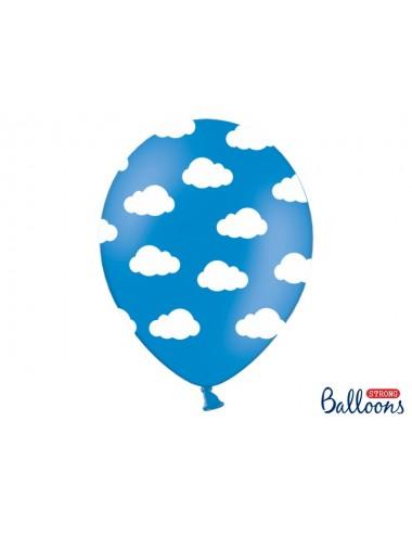 Ballonnen wolken blauw (6st)