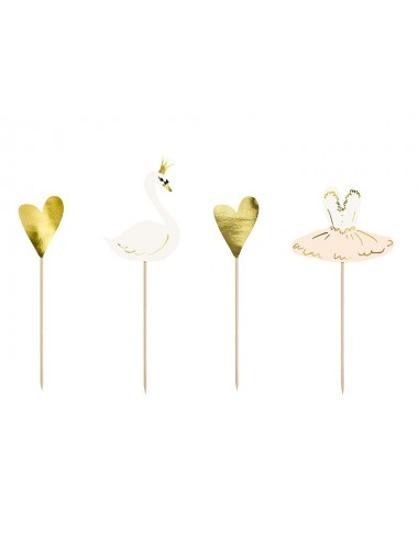 "Cake toppers ""Lovely Swan"" (4st)"