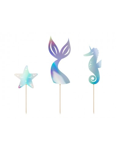 "Cake toppers ""Mermaid"" (3st)"