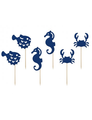 "Cake toppers ""Ahoy"" (6st)"