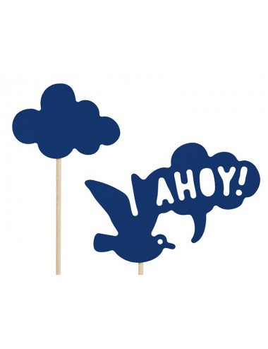 "Cake toppers ""Ahoy"" (9st)"