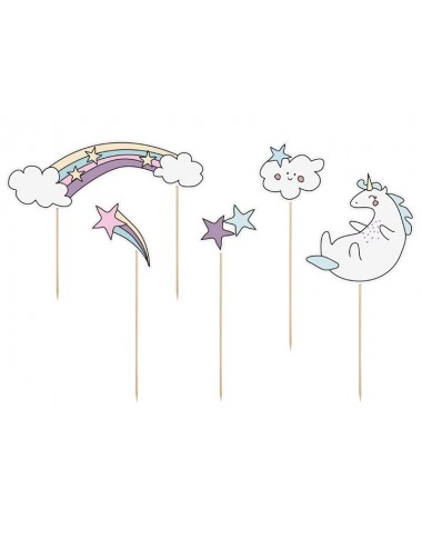 "Cake toppers ""Unicorn"" (5st)"