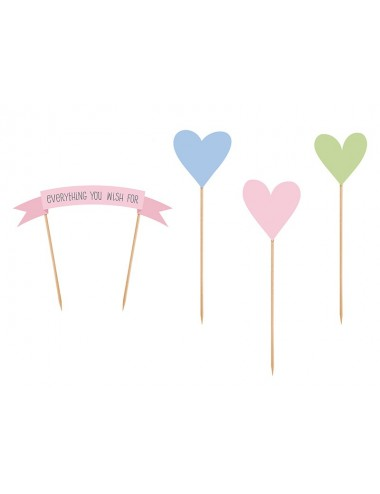 Cake toppers pastel (4st)