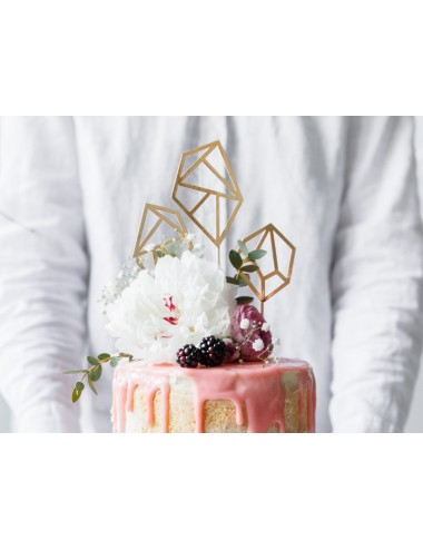 Cake toppers diamanten goud...