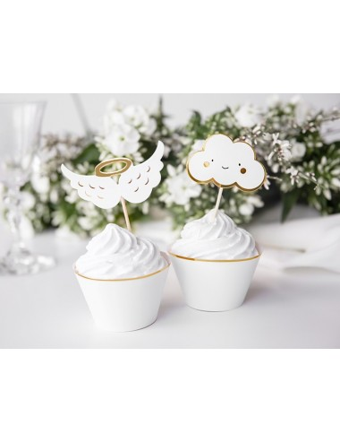 Cake toppers wolken goud (6st)