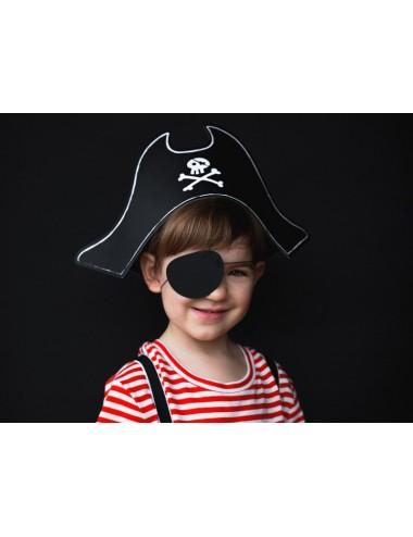Piratenhoed met ooglap