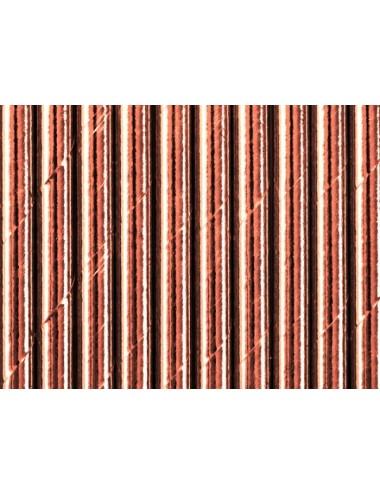 Papieren rietjes roségoud (10st)