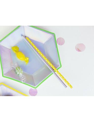 Papieren rietjes iridescent (10st)