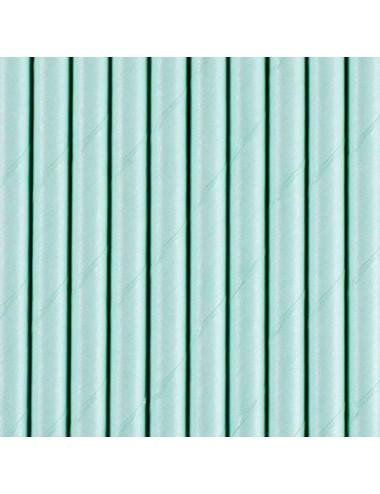 Papieren rietjes blauw (10st)