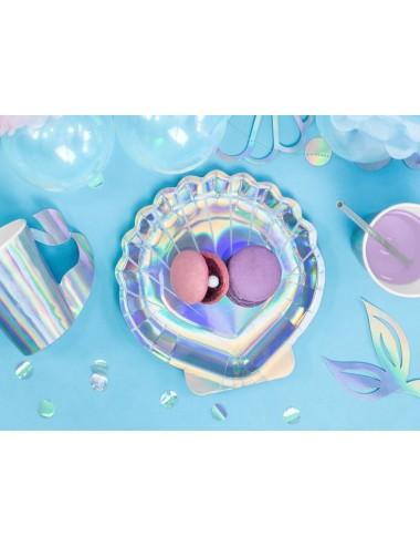 """Papieren bordjes """"Mermaid"""" (6st)"""