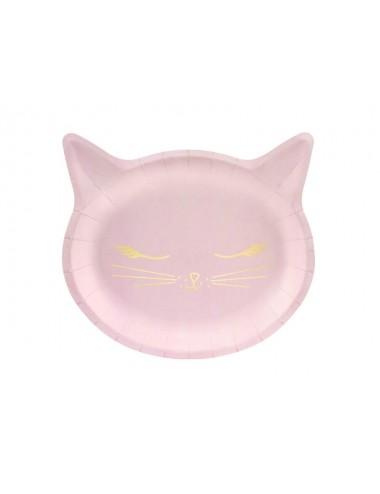 "Papieren bordjes ""Meow"" (6st)"