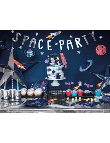 """Papieren bordjes """"Space"""" (6st)"""