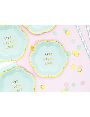 """Papieren bordjes """"Live..."""