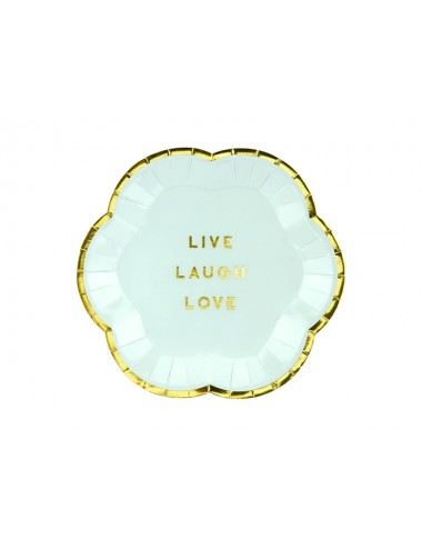 "Papieren bordjes ""Live Laugh Love"" (6st)"