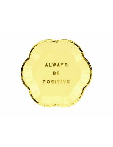 "Papieren bordjes ""Always be Positive"" (6st)"