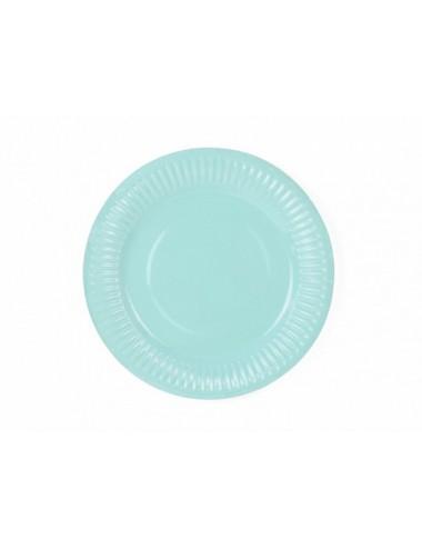 Papieren bordjes turquoise (6st)