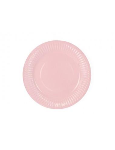 Papieren bordjes roze (6st)