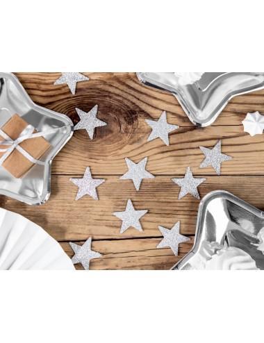 Decoratie zilveren sterren