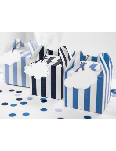 Confetti mix blauw/wit