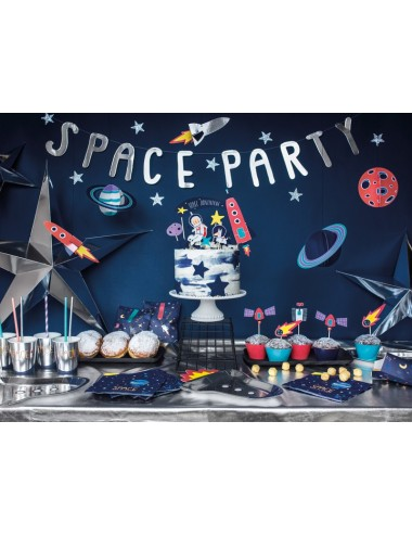 "Decoratie ""Space"" (5st)"