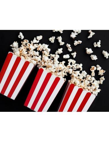 Popcorn beker rood/wit (6st)