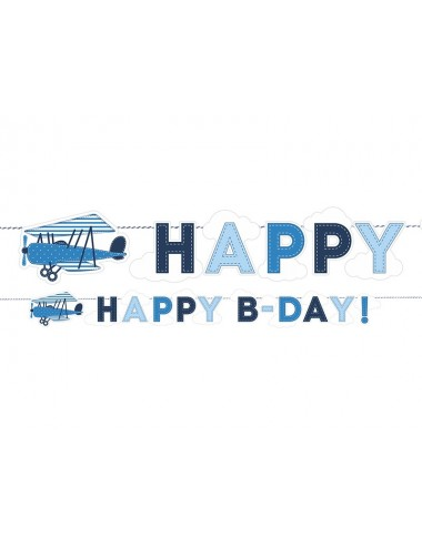 "Slinger vliegtuig ""Happy b-day"""