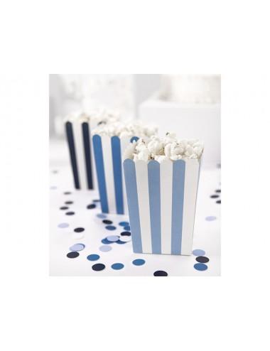 Popcorn beker blauw/wit (6st)