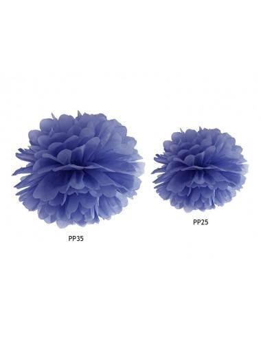 Pompom donkerblauw