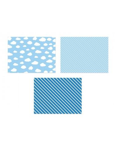 Papieren placemats mix blauw (6st)