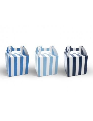 Boxjes mix blauw/wit (6st)